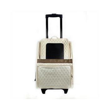 Rio Roller Bag — Ivory Quilted