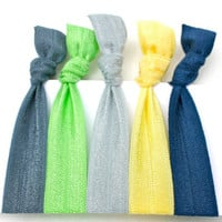 FOE Headbands (5) Emi Jay Like Fabric Headbands - Stretchy Soft Elastic Headbands, Hairbands - Women's Hair Accessories