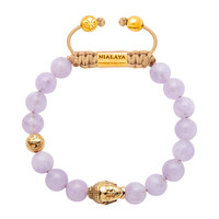 Gold Plated Buddha With Amethyst Lavender