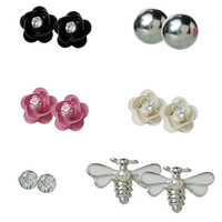Women's (6 pk) Rose and Bee Stud Earring Set