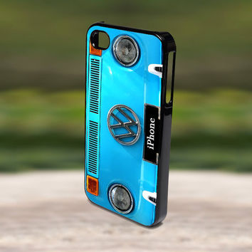 Accessories Print Hard Case for iPhone 4/4s, 5, 5s, 5c, Samsung S3, and S4 - VW Volk Wagen Blue