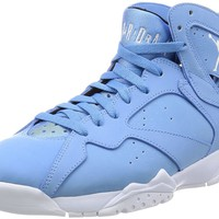 Jordan Men's Air 7 Retro, University Blue/White-White-Black
