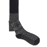 Diamond-Patterned Over-the-Knee Socks
