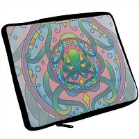 Mandala Trippy Stained Glass Octopus iPad Tablet Sleeve