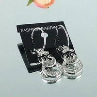 8DESS Dolce & Gabbana Women Fashion Chic Accessories Fine Jewelry Earrings