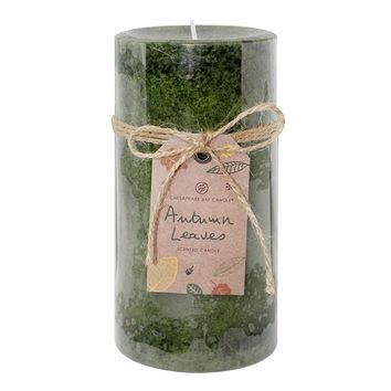 Chesapeake Bay Candle Autumn Leaves 3'' x 6'' Pillar Candle (Green)