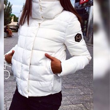 Autumn Winter Women Coat Fashion Down Jacket Parkas Casual Inverno Plus Size