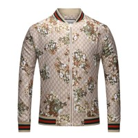GUCCI 2018 autumn and winter models tide men's stand collar thin jacket F-A00FS-GJ