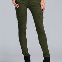 Army Green Cargo Skinny Pants – Lookbook Store