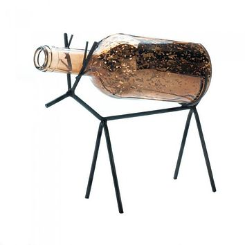 Glass Bottle Reindeer Lantern