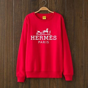Hermes Fashion Casual Top Sweater Pullover-2