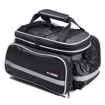 HOTSPEED 25L Bicycle Carrier Bag Rear Rack Bike Trunk Bag Luggage Pannier Back Seat Double Side Big Capacity Cycling Bag