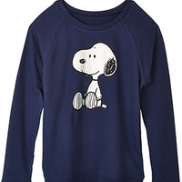 Snoopy Hologram Sweatshirt - Navy