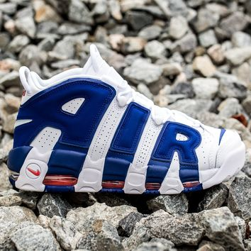 NIKE AIR MORE UPTEMPO '96 - WHITE/DEEP ROYAL BLUE