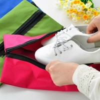 3Pcs Set Nylon Portable Waterproof Travel Shoe Storage Bag Pouch Shoes Bag Portable Travel Storage Pouch Bags