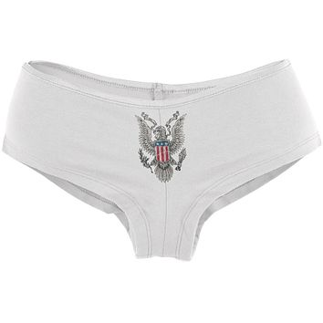 4th Of July Born Free American Eagle Womens Booty Shorts