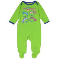 Ninja Turtles Newborn Baby's Tough As A Turtle Onesuit