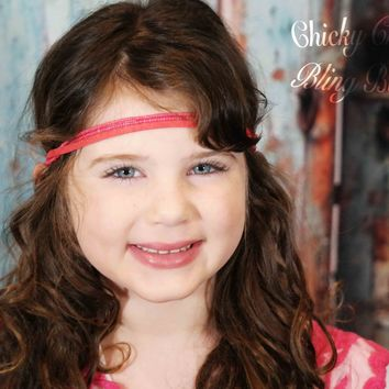Colorful Beads and Leather Headbands