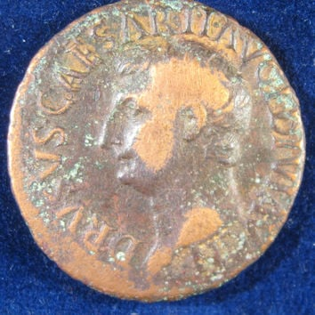 Ancient Roman Coin, 22 23 AD Coin, Roman Empire Coin,Drusus Under Tiberius Coin, Ancient Coin, Italian Coin, Collectible Roman Empire Coin,