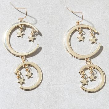 LA Hearts Moon Child Earrings at PacSun.com