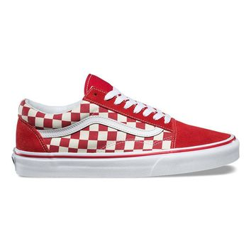 HCXX Vans Primary Check Old Skool - Racing Red / White
