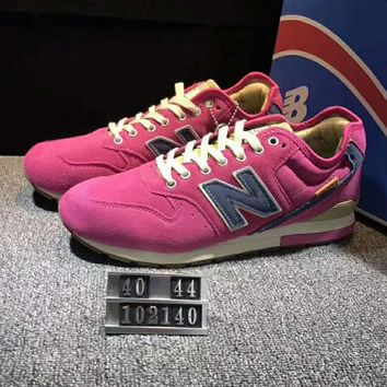 One-nice™ New Balance Fashion Casual All-match N Words Breathable Couple Sneakers Shoes Rose Red I-XYXY-FTQ