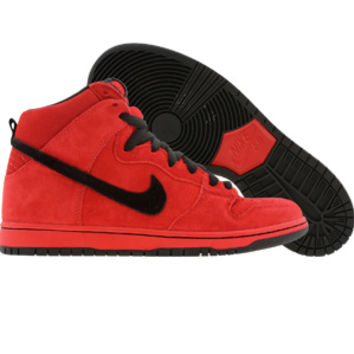 Nike Dunk High Pro SB - Red Devil (sport red / black) Shoes 305050-600 | PickYourShoes.com