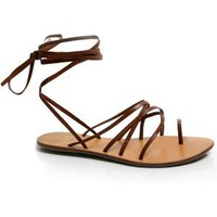 Andres Machado BROWN Greek Roman Sandals