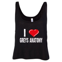 Grey's Anatomy Shirts - Ladies' Cropped Tank Top