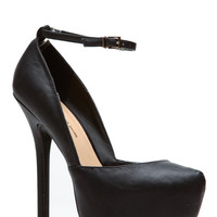 Modern Mary Jane Black Pumps