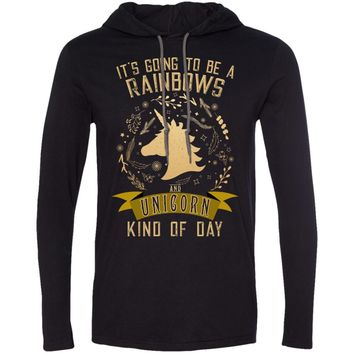It's Going to be a Rainbows and Unicorns 987 Anvil LS T-Shirt Hoodie