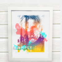 Star Wars Episode VII Han Solo Movie Poster- Instant Download Art Print, Watercolor Silhouettes Print, Home Wall Decor - ACD1005
