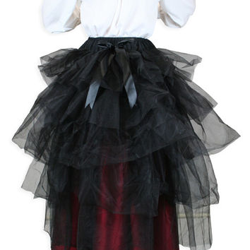 Tulle Bustle Skirt - Black