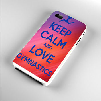 keep calm and love gymnastics art iPhone 4s Case