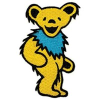 Grateful Dead Men's Embroidered Patch Yellow