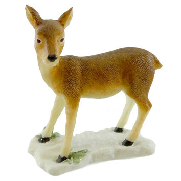 Animal FOREST FROLIC Resin 3 In. Deer Doe Miniature Statue Figurine 299839