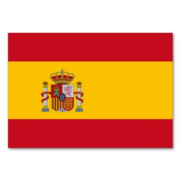 Patriotic table card with Flag of Spain