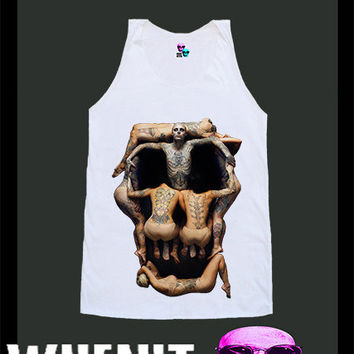 worldwide shipping just 7 days ZOMBIE BOY skull shirt singlet tank top 10349