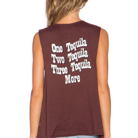 BEACH RIOT More Tequila Muscle Tank in Crimson