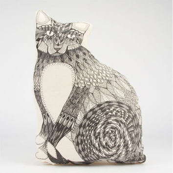 The Rise And Fall Cat Pillow White One Size For Women 23999615001
