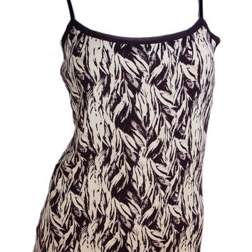 Ann Taylor Camisole Tank Top (Brown Ivory Print)