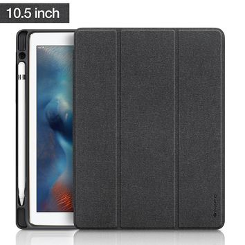 """For Apple iPad Pro 10.5 """"Case 2017 New PU Leather Slim Smart Cover W Pencil Holder Wake Sleep Function For iPad Pro 10.5 Case"""