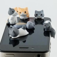 Kawaii Cat Anti-dust Plugs (6-piece set)