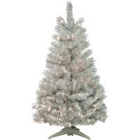 Walmart: Pre-Lit 4' Silver Artificial Christmas Tree, 100 Lights