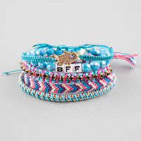 Full Tilt 5 Piece Hamsa/Bff Bracelets Turquoise Combo One Size For Women 25360925901