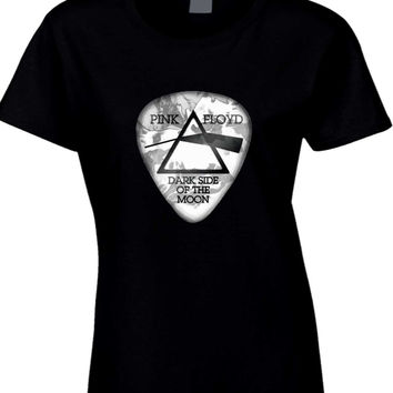 Pink Floyd Dark Side Of The Moon Guitar Picker Womens T Shirt
