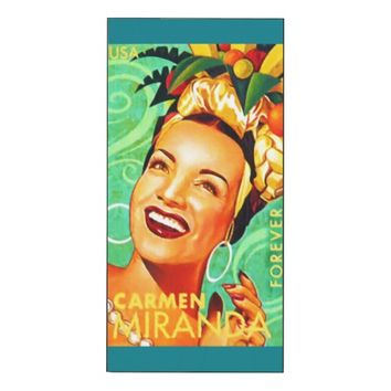 Carmen Miranda Wood Wall Art