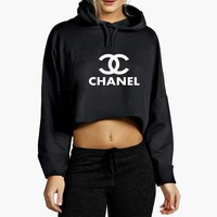 Chanel Top Cropped Hoodie