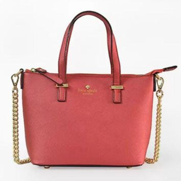 ac NOVQ2A Spade Women Shopping Leather Tote Handbag RED
