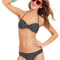 California Waves Swimsuit, Polka-Dot Bikini Top & Polka-Dot Hipster Brief Bottom - Swimwear - Women - Macy's